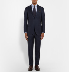 Canali Navy Slim-Fit Super 130s Wool Suit
