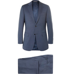 Canali Blue Slim-Fit Super 130s Wool Suit