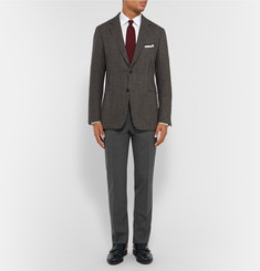 Canali Straight-Leg Stretch-Wool Trousers