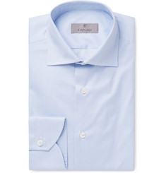 Canali - Blue Striped Cotton Shirt