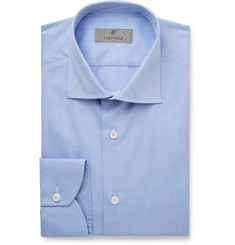 Canali - Blue Slim-Fit Cotton Shirt