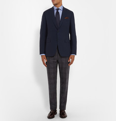 Canali Blue Slim-Fit Cotton Shirt