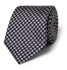 Canali - Floral Silk-Jacquard Tie
