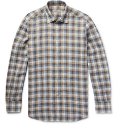 Canali - Checked Linen Shirt