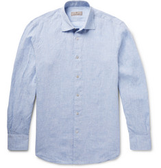 Canali - Slim-Fit Slub Linen Shirt