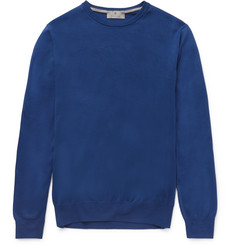 Canali Slim-Fit Crew-Neck Cotton Sweater