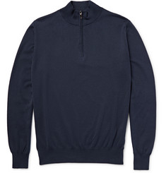 Canali Half-Zip Cotton Sweater