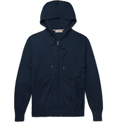 Canali Zip-Up Cotton-Jersey Hoodie