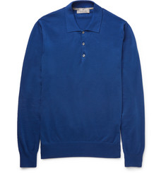 Canali Slim-Fit Garment-Dyed Cotton Polo Shirt
