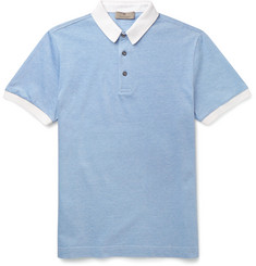 Canali Slim-Fit Cotton-Piqué Polo Shirt