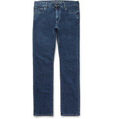 Canali Straight-Leg Stretch-Denim Jeans
