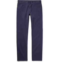 Canali Slim-Fit Stretch-Cotton Twill Trousers