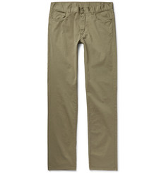 Canali Slim-Fit Cotton-Blend Twill Chinos