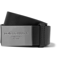 Dolce & Gabbana 3.5cm Black Leather Belt