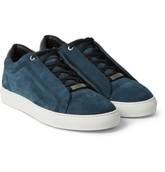 Brioni - Leather and Suede Sneakers