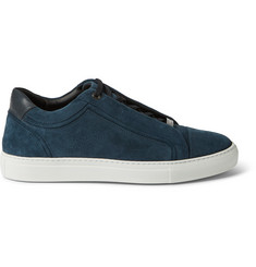 Brioni Leather and Suede Sneakers