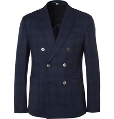 Hardy Amies - Navy Slim-Fit Double-Breasted Wool Blazer