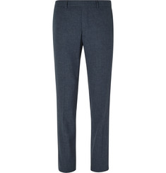 Hardy Amies - Navy Slim-Fit Cotton-Blend Trousers