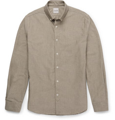 Hardy Amies Dean Slim-Fit Button-Down Collar Cotton Shirt