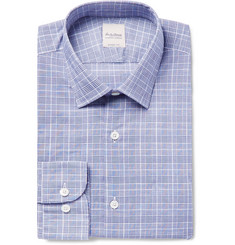 Hardy Amies Prince of Wales Checked Cotton Shirt