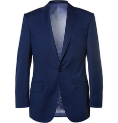 Richard James Navy Slim-Fit Basketweave Wool Suit Jacket