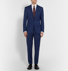 Richard James - Navy Slim-Fit Basketweave Wool Suit Jacket