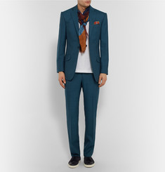 Richard James Petrol Wool Suit Jacket