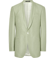 Richard James Light-Green Hyde Slub Silk Tuxedo Jacket