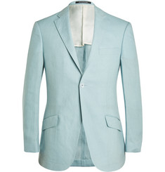 Richard James Pale-Blue Irish Linen Suit Jacket