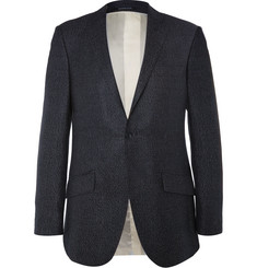 Richard James Blue Seishin Slim-Fit Silk and Wool-Blend Hopsack Blazer