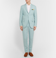 Richard James Pale-Blue Irish Linen Trousers