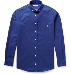 Richard James Slim-Fit Button-Down Collar Pin-Dot Cotton Shirt