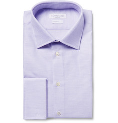 Richard James Purple Slim-Fit Double Cuff Cotton Royal Oxford Shirt