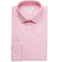 Richard James Pink Slim-Fit Polka-Dot Cotton Shirt