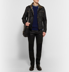 Belstaff Lincefield Ribbed Virgin Wool and Cashmere-Blend Sweater
