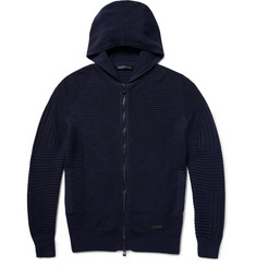 Belstaff Keenan Ribbed Zip-Up Cotton Hoodie