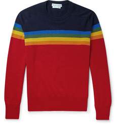 Michael Bastian Slim-Fit Rainbow Intarsia Cashmere Sweater
