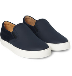 Harrys of London - Ethan Jones Leather and Suede Sneakers