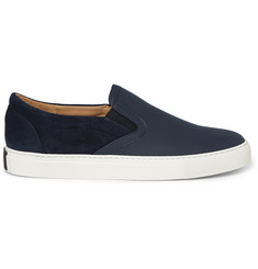 Harrys of London Ethan Jones Leather and Suede Sneakers