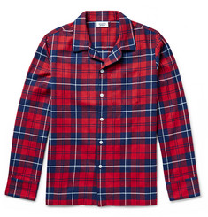 Sleepy Jones Henry Checked Cotton-Flannel Pyjama Shirt
