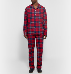 Sleepy Jones - Henry Checked Cotton-Flannel Pyjama Shirt
