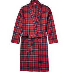 Sleepy Jones Checked Cotton-Flannel Robe