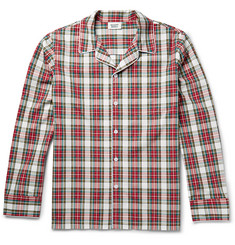 Sleepy Jones Henry Checked Cotton Pyjama Shirt