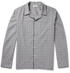 Sleepy Jones Henry Glen-Plaid Checked Cotton Pyjama Shirt