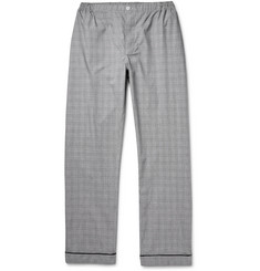 Sleepy Jones Marcel Glen-Plaid Checked Cotton Pyjama Trousers