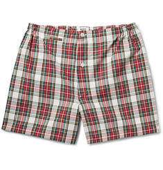 Sleepy Jones - Jasper Checked Cotton Boxer Shorts