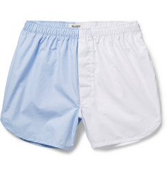 Sleepy Jones Walt Two-Tone Cotton-Poplin Boxer Shorts
