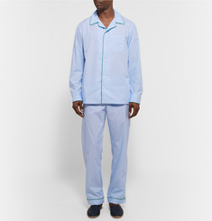 Sleepy Jones - Henry End-On-End Cotton Pyjama Shirt
