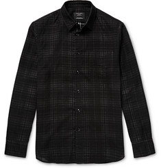 Rag & bone - Beach Overdyed Checked Cotton-Flannel Shirt
