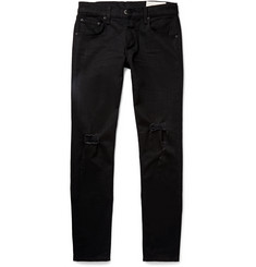 Rag & bone Skinny-Fit Tapered Fit 1 Distressed Stretch-Denim Jeans